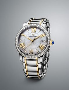 David Yurman Watch Steel and Gold with diamonds