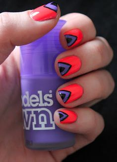 Models Own Ice Neons Nail Art Tutorial! Neon #pink #purple #black #nails