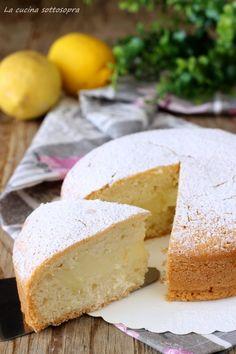 torta ripiena di crema al limone senza lattosio