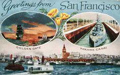 postcard styles | postcardiva postcard blog: SAN FRANCISCO POSTER STYLE POSTCARDS