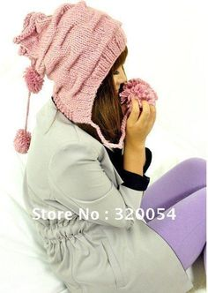 Free shipping,2013 new,1pcs,woman's knitting fold line caps,winter warm ear protection hat,multicolor. $7.50