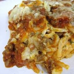 Baked Cream Cheese Spaghetti Casserole on BigOven: It makes more than expected, but is very good.