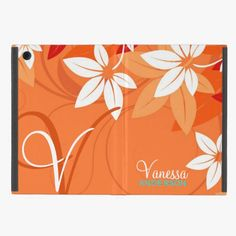 It's cool! This Tangerine Floral Monogram Folio iPad Mini Cover is completely customizable and ready to be personalized or purchased as is. Click and check it out!