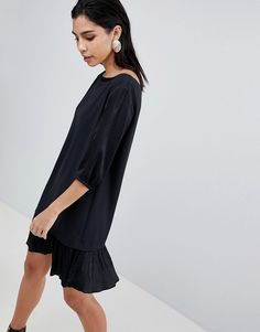 online shopping for Sisley Pleat Drop Waist Hem Dress from top store. See  new offer for Sisley Pleat Drop Waist Hem Dress 3fd2fc1a2