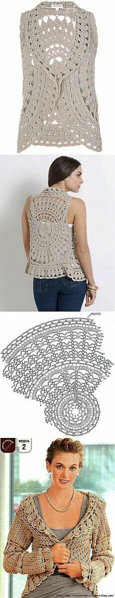 60 Ideas Crochet Jacket Women Shrug Pattern For 2019 Crochet Bolero, Poncho Au Crochet, Crochet Vest Pattern, Shrug Pattern, Crochet Jacket, Crochet Cardigan, Lace Knitting, Crochet Patterns, Poncho Patterns