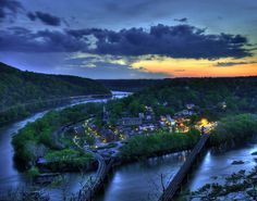 Harper's Ferry, WV.  We went here for my 11th birthday.  We took the train from Rockville and I remember it started snowing while we were there.  Seriously like the best birthday I have ever had.