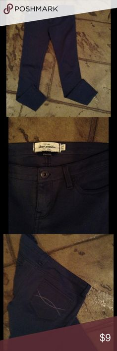 ABERCROMBIE STRETCH SKINNY JEANS Size 14, in great condition. Dark grey. abercrombie kids Jeans Skinny