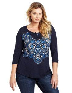 www.iwantobefitnow.tumblr.com/   Lucky Brand Women's #Plus-Size Tajine Henley Tee #fashion