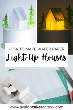 Looking to add something special to your Christmas bakery menu this year? these wafer paper light up houses will do the trick! These edible wafer paper houses are adorable and all you need is wafer paper, our house templates, and an Exacto knife to make these adorable glitter Christmas houses! Don't use real fire under the wafer paper, use LED lights instead! You can also watch the full step by step video tutorial right on my blog. Avalon Cakes School has hundreds of bakery tutorials.