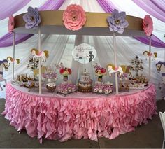 What a spectacular Carousel inspired dessert table!! What a fantastic idea!!! See more party ideas and share yours at CatchMyParty.com