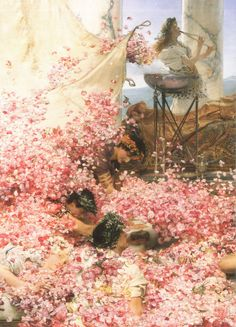 """Detail from """"The Roses of Heliogabulus"""" by Sir Lawrence Alma Tadema"""