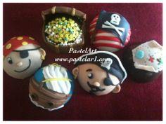 piratas!, elaborados en chocolate y fondant, pedidos desde 12 piezas