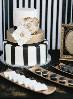 80 adoráveis preto e dourado das ideias do casamento | HappyWedd.com