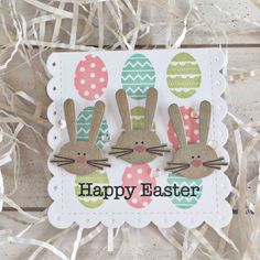 Happy Easter Mini Card by Heather Nichols for Papertrey Ink (March 2017)