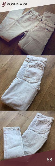 Men's cream slim jeans Like new men's slim jeans in white/cream color Mossimo Supply Co Jeans Slim