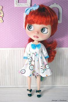 Vestido Blythe Big Eyes, Blythe Dolls, Red Hair, Couture, Disney Princess, Disney Characters, Etsy, Design, Vestidos