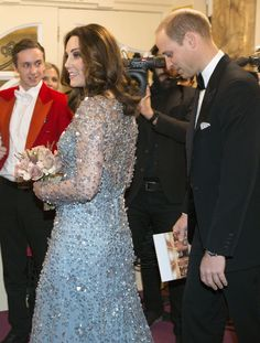 Prince William and Pregnant Kate Middleton Arrive at London Theater After Scare One Block Away