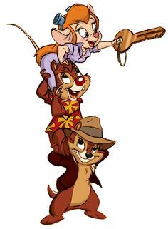 Chip and Dale Rescue Rangers -Chip, Dale, & Gadget