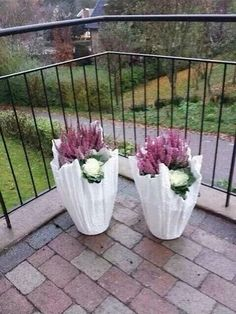 Betonschalen aus Handtüchern für Garten und Balkon