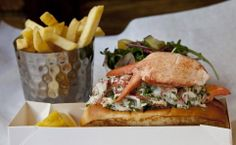 Getting v excited about the lobster roll at Burger & Lobster