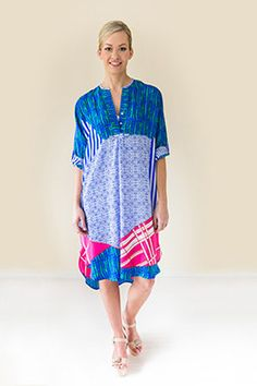 Silk Shirt Dress, Geo, Cover Up, Spring Summer, Collections, Shirts, Dresses, Products, Fashion