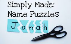 Name Puzzle- do this for my kinders who can't spell/recognize their name