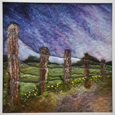 Homeward Bound. Sue Lewis felted wall art