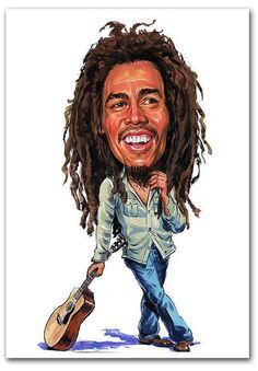 Bob Marley Caricature Hard Case for iPhone