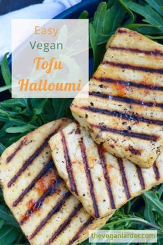 We recreated the salty, mild cheesy flavour of halloumi but made it vegan! Using tofu and a special marinade, this BBQ summer favourite is back on the menu for vegans or those with dairy allergies! Yummy vegan recipe that's perfect for summer BBQs and Grilling! #vegan #veganrecipe #glutenfreerecipe #tofu #halloumi