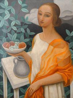 Jean Metzinger (France 1883-1956) Junge Frau mit Obstschale