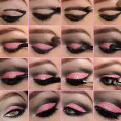 Pink Cut Crease Tutorial by Eline F. Click the pic to see the products she used. #beauty #makeup #nightout