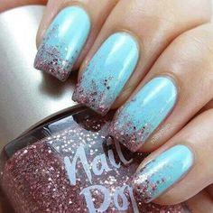 Sky blue and glitter