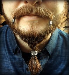 Beard Beading KIT 'The Skald' TIBETAN ALLOY beard rings viking beard bead beard rings viking jewelry Celtic beard bead pirate goth Dwarvish Beards And Mustaches, Bald Men With Beards, Bald With Beard, Moustaches, Mens Hairstyles With Beard, Hair And Beard Styles, Haircuts For Men, Hair Styles, Viking Hairstyles