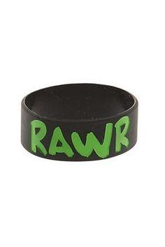 Best Bracelet 2017/ 2018 : RAWR Rubber Bracelet | Hot Topic