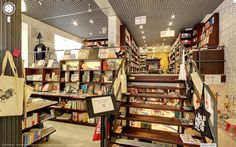 A wonderful trip to a bookshop in Barcelona or Singapore? No problem, you can do it right now using Google Street View Indoor Tours.