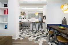 A Creative Way To Transition Between Hexagonal Tiles And Wood | CONTEMPORIST