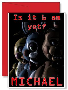 Personalized Birthday Greeting Card Five Nights at Freddy's FNAF with my name on it!