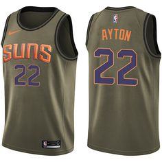 Nike Suns  22 Deandre Ayton Green Youth NBA Swingman Salute to Service  Jersey Nba Swingman d376b256b