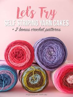 Risultato immagini per yarn cake patterns Crochet Afghans, Caron Cake Crochet Patterns, Caron Cakes Crochet, Crochet Cake, Love Crochet, Diy Crochet, Knitting Patterns, Crochet Ideas, Spiral Crochet