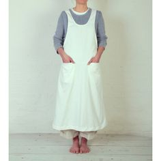 Corelli Pinafore, White. This may be the perfect pinafore shape.