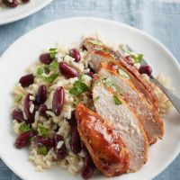 LOVE life Jerk chicken (or quorn) with coconut rice