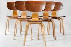 Combex shell dining chairs by Cees Braakman