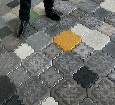 #Quatrefoil tile