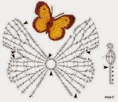 With over 50 free crochet butterfly patterns to make you will never be bored again! Get your hooks out and let& crochet some butterflies! Crochet Diagram, Crochet Chart, Crochet Motif, Crochet Stitches, Crochet Patterns, Crochet Diy, Love Crochet, Irish Crochet, Crochet Butterfly Pattern
