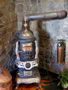 Woodburning Stove : Steampunk Victorian : Apartment Therapy
