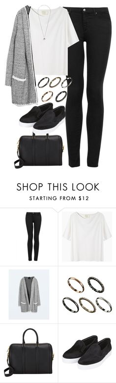 """Untitled #1083"" by megan-trinite ❤ liked on Polyvore featuring Topshop, La Garçonne Moderne, Zara, ASOS, A.L.C. and Yves Saint Laurent"