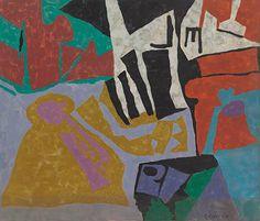Leonard Edmondson Untitled #32, c. 1960 Oil on canvas 36 x 42 inches