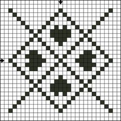 Free Single Color Tile Ten Counted Cross Stitch Pattern - Free Printable Chart