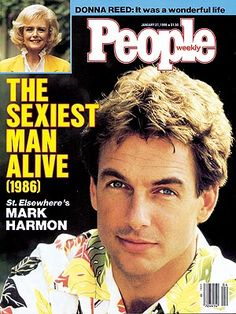 Mark Harmon-I have loved him since I first saw him in a cheesy movie on TV about a ship that sank, before he did St. E.
