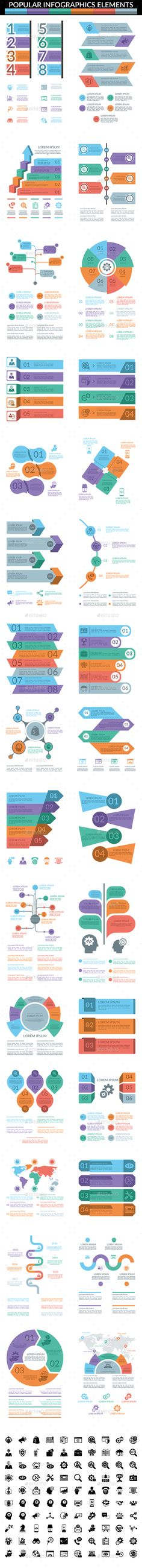 Popular Infographics Elements by tkportfolio Files Include: AI 3 AI Files for Illustrator CC, Illustrator Illustrator CS EPS 4 EPS Files for Illustrator CC, I Infographic Resume, Infographic Templates, Infographics Design, Data Dashboard, Diagram Chart, Line Graphs, Creative Powerpoint Templates, Data Visualization, Keynote Template